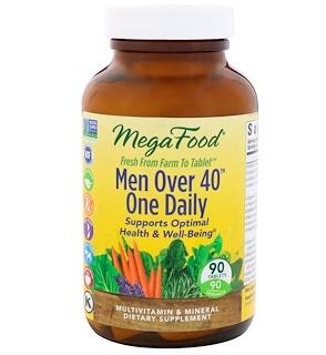 MegaFood, Для мужчин старше 40 лет, одна таблетка в день, без железа, 90 таблеток