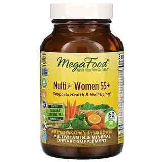 MegaFood, Multi for Women 55+, 60 Tablets