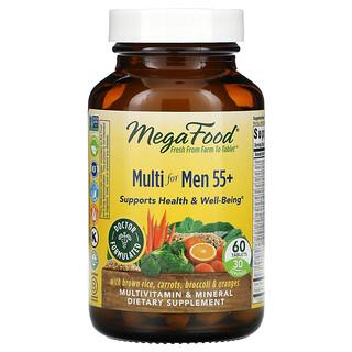 MegaFood, Suplemento multivitamínico para hombres mayores de 55años, 60comprimidos