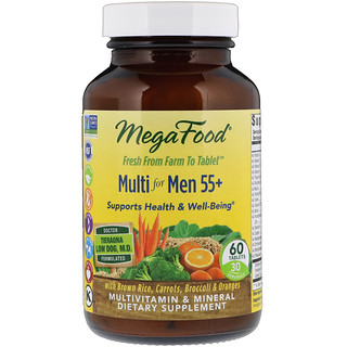 MegaFood, Multi for Men 55+, 60 Tablets