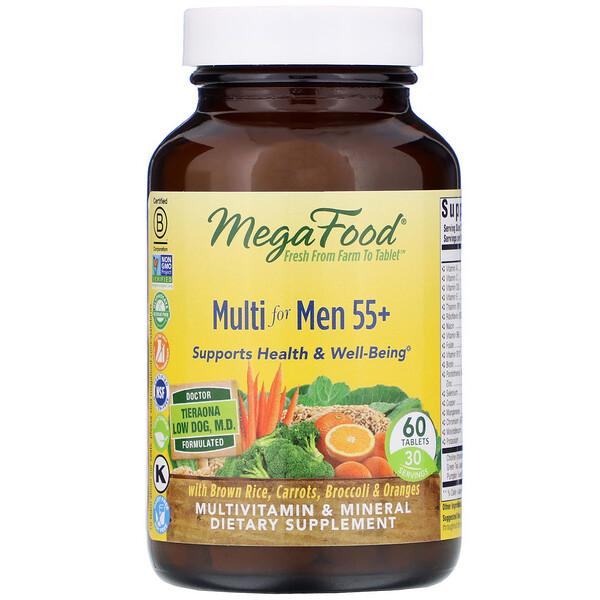 فيتامينات متعددة للرجال 55+، 60 قرصًا