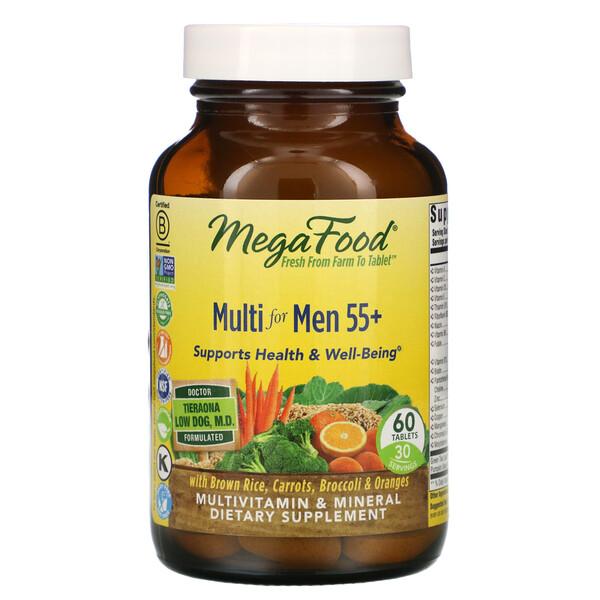 Multivitamínico para Homens Acima de 55 Anos, 60 Comprimidos