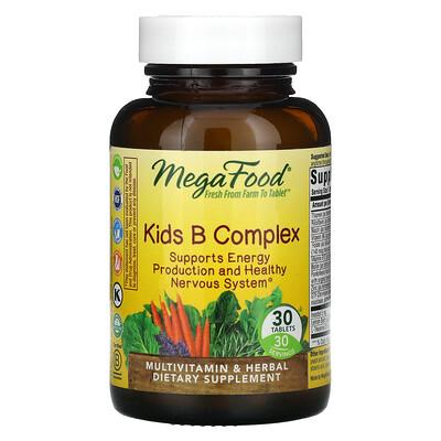 Купить MegaFood Комплекс витаминов группыB для детей, 30таблеток