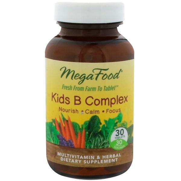 MegaFood, Kids B Complex, 30 Tablets