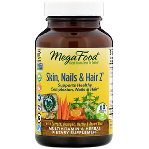 Мегафудс, Skin, Nails & Hair 2, 60 Tablets отзывы покупателей