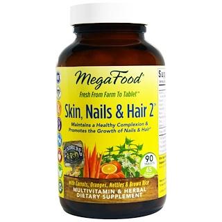 MegaFood, Skin, Nails & Hair 2, 90 Tablets