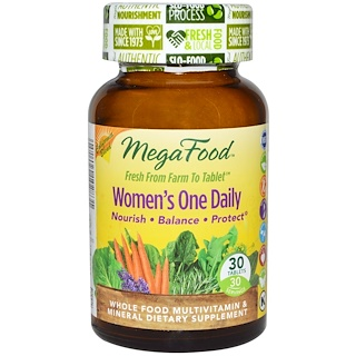 MegaFood, Women's One Daily, Whole Food Multivitamin & Mineral, 30 Tablets