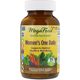 MegaFood, Women's One Daily, 90 comprimidos