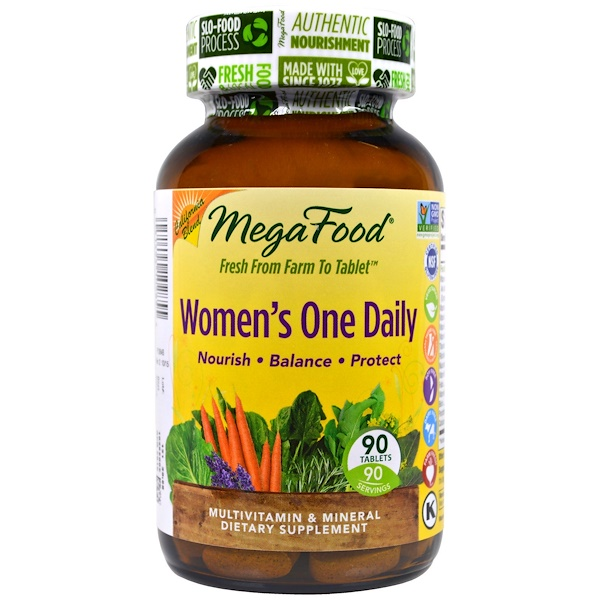 MegaFood, Women's One Daily,全食多種維生素和礦物質,90片