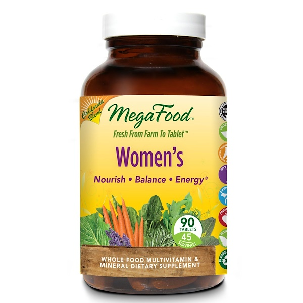 MegaFood, Цельнопищевые мультивитамины и минералы для женщин, 90 таблеток (Discontinued Item)