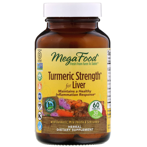 MegaFood, Turmeric Strength for Liver, 60 Tablets