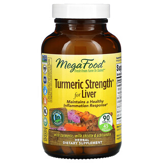 MegaFood, Turmeric Strength for Liver, 90 Tablets