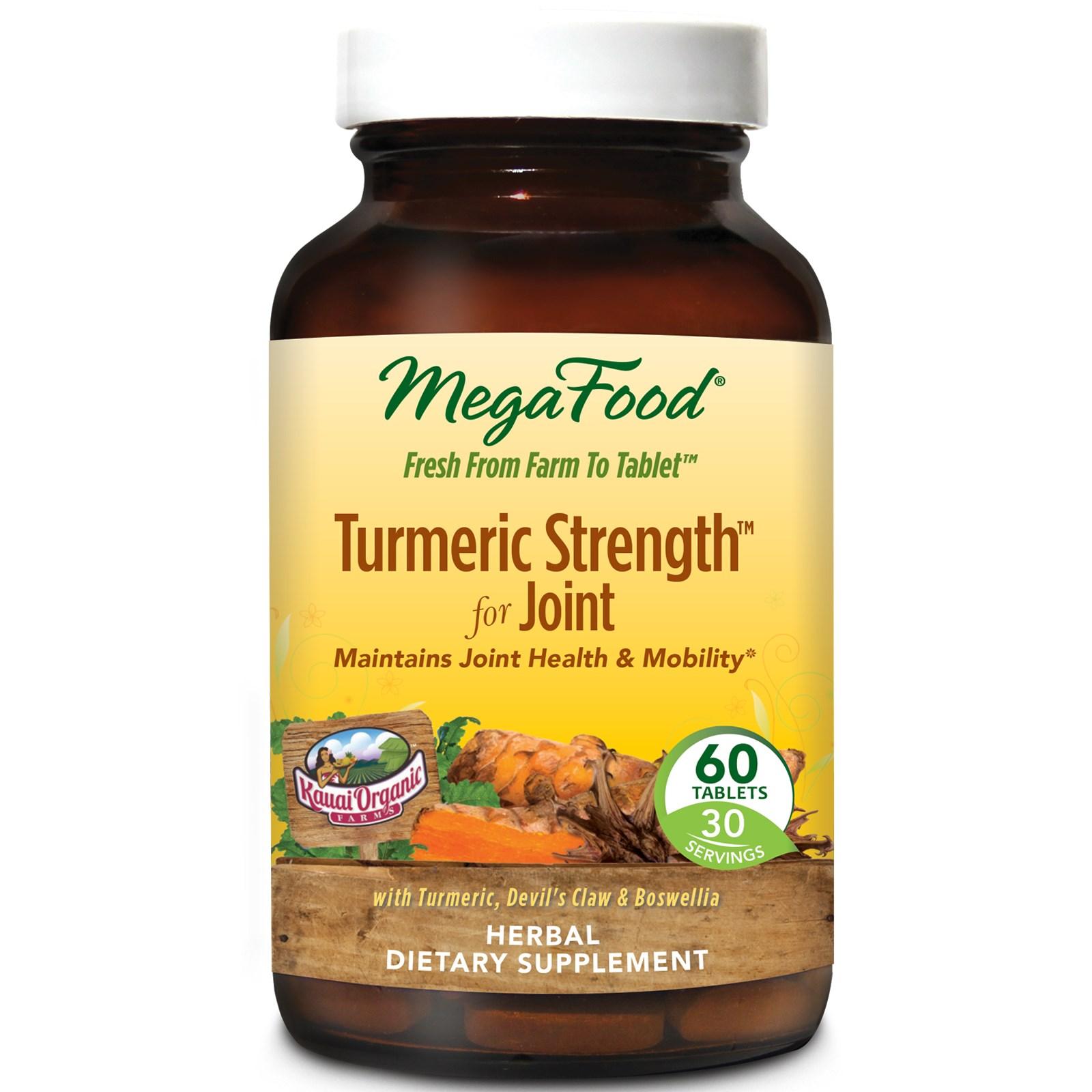 MegaFood, Комплекс для укрепления суставов на основе куркумы, 60 таблеток