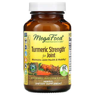 MegaFood, Turmeric Strength for Joint, 60 Tablets