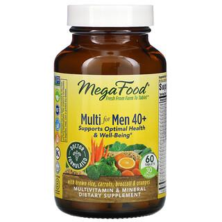 MegaFood, Suplemento multivitamínico para hombres mayores de 40años, 60comprimidos