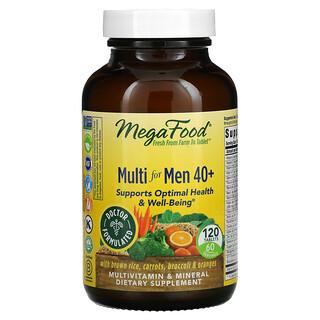 MegaFood, Suplemento multivitamínico para hombres mayores de 40años, 120comprimidos