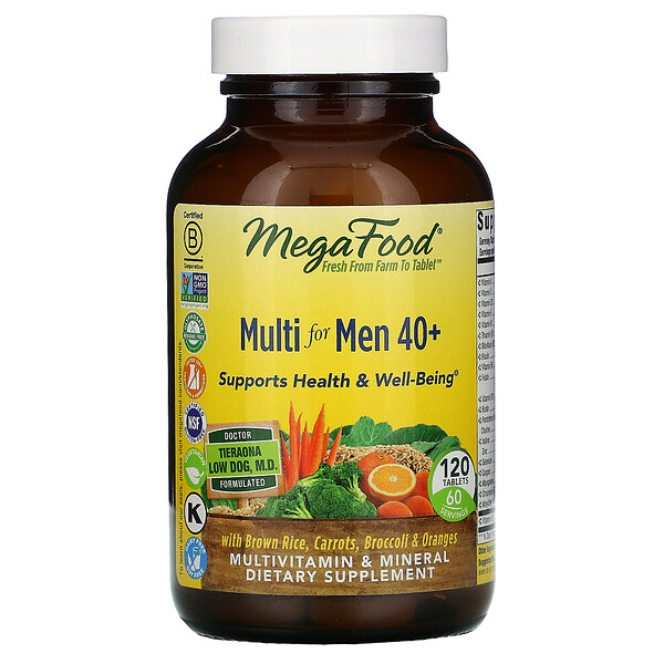 Multi for Men 40+, 120 Tablets