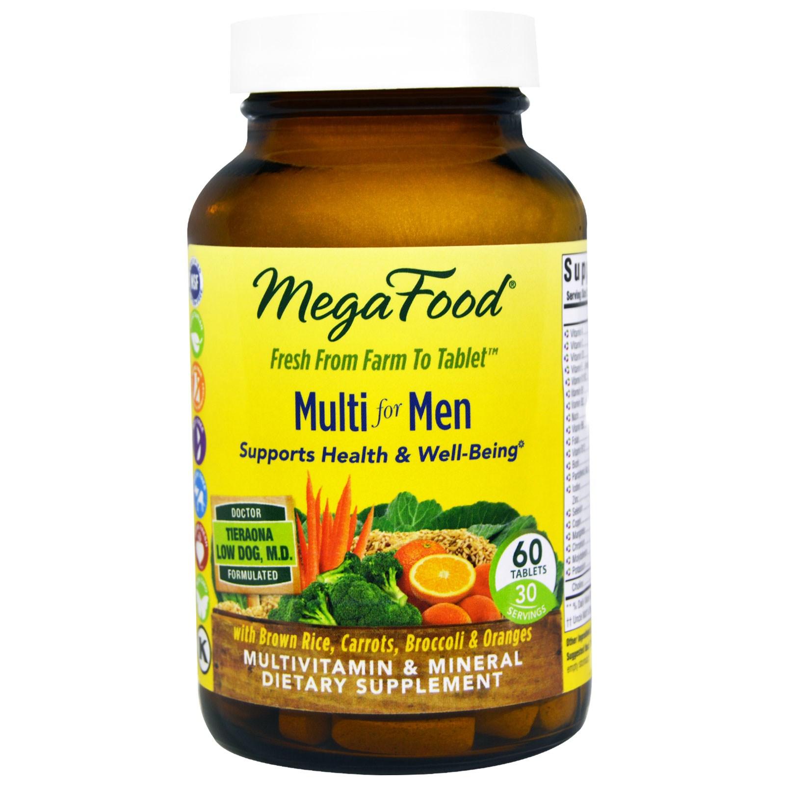 MegaFood, Мультивитамин для мужчин, 60 таблеток