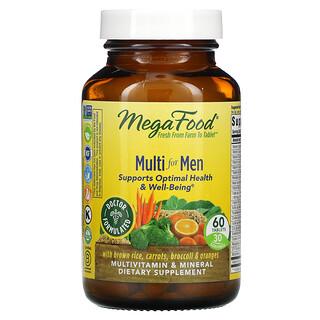 MegaFood, Suplemento multivitamínico para hombres, 60comprimidos