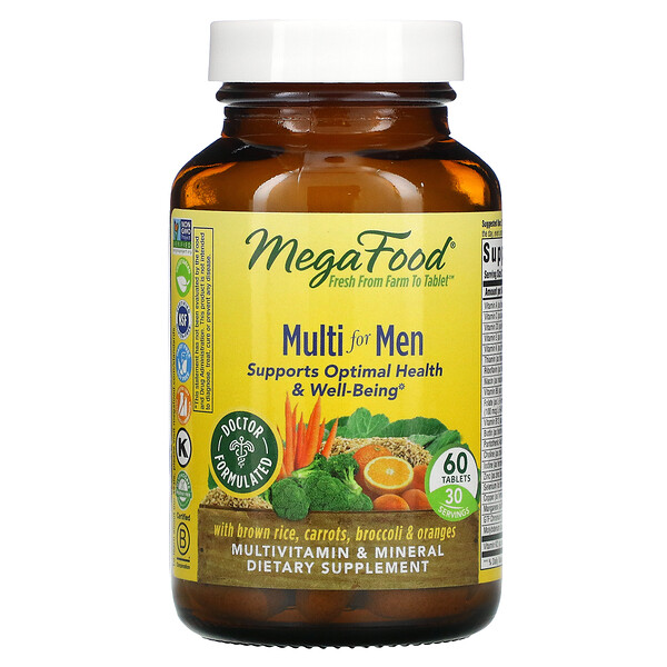 MegaFood, Multi for Men, 60 Tablets