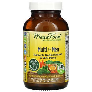 MegaFood, Suplemento multivitamínico para hombres, 120comprimidos
