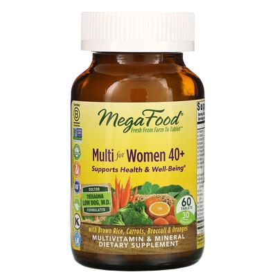 Купить MegaFood комплекс витаминов и микроэлементов для женщин старше 40лет, 60таблеток