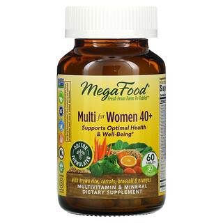 MegaFood, Multi for Women 40+, 60 Tablets