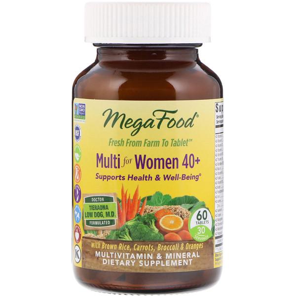 MegaFood, Multi for Women 40 +, 60 Tablets