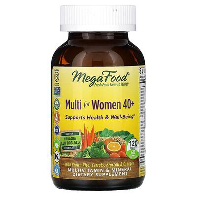 MegaFood комплекс витаминов и микроэлементов для женщин старше 40лет, 120таблеток  - Купить