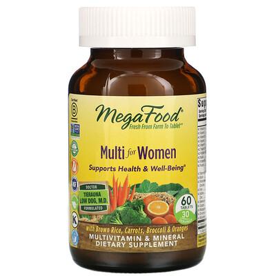 Купить MegaFood Комплекс витаминов и микроэлементов для женщин, 60таблеток