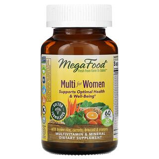 MegaFood, Multi for Women, 60 Tablets
