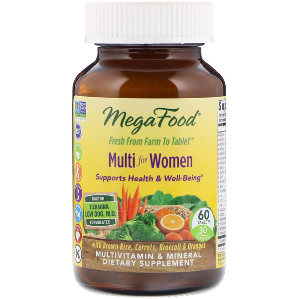 MegaFood, Мультивитамин для женщин, 60 таблеток