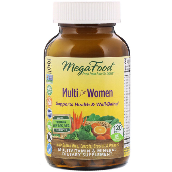 MegaFood, Multi for Women, 120 Tablets
