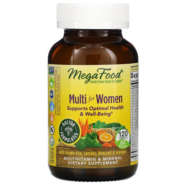 MegaFood, Multi for Women, 120 Tablets