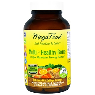 MegaFood, Multi for Healthy Bone, 120 Tablets