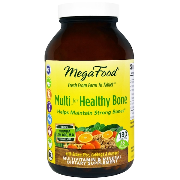 MegaFood, Multi for Healthy Bone, 180 Tablets (Discontinued Item)