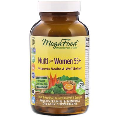 Купить Мультивитамин для женщин от 55 лет, 120 таблеток