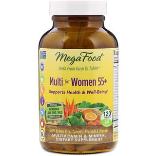 MegaFood, Multi for Women 55+, 120 Tablets
