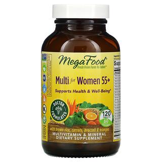 MegaFood, Multi for Women 55+, 120 Tablets