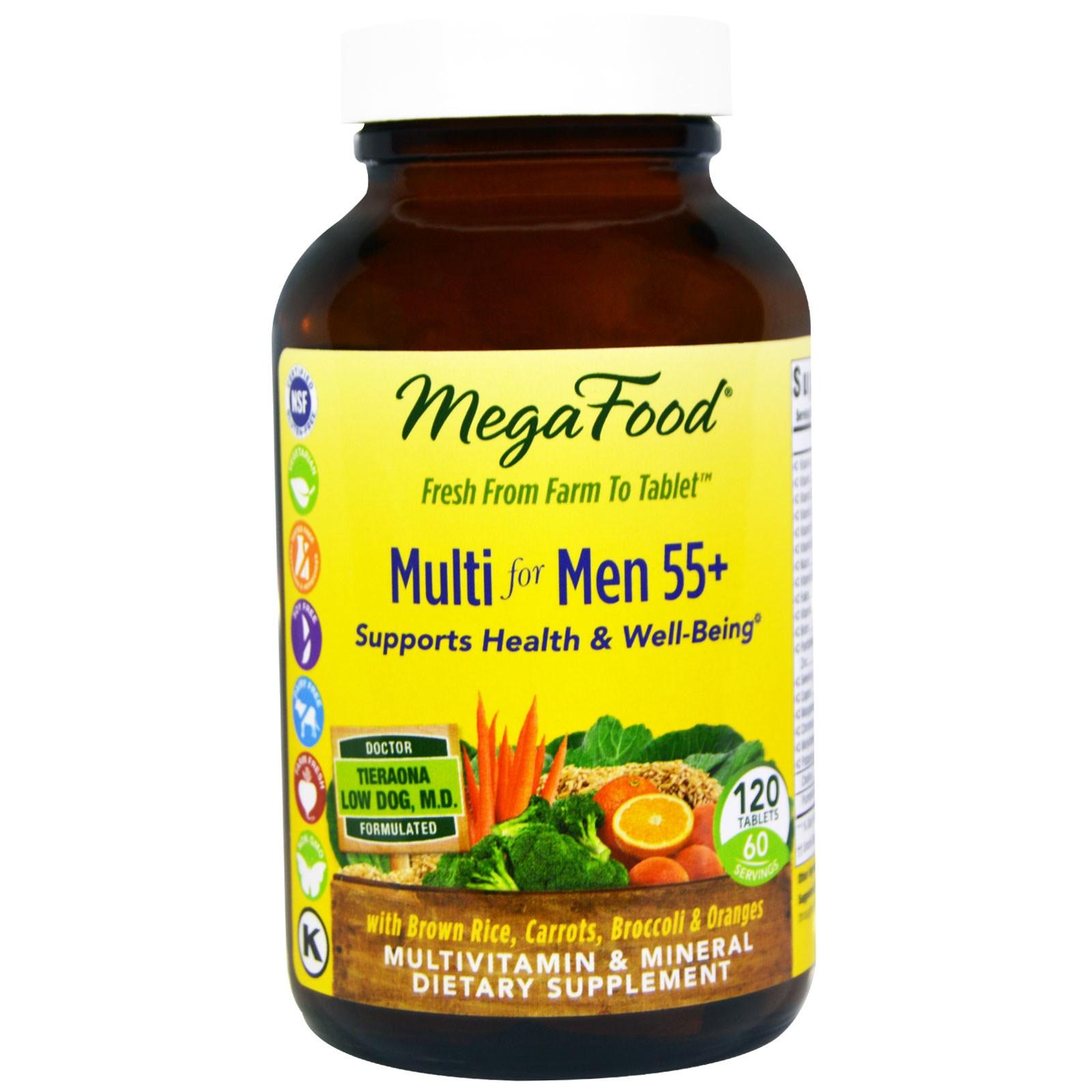 MegaFood, Мультивитамин для мужчин от 55 лет, 120 таблеток