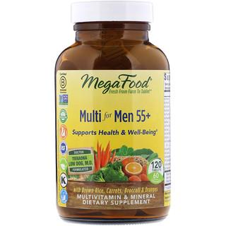 MegaFood, 男性用マルチ 55+、 120 タブレット