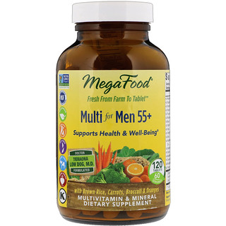 MegaFood, Multi for Men 55+, 120 Tablets