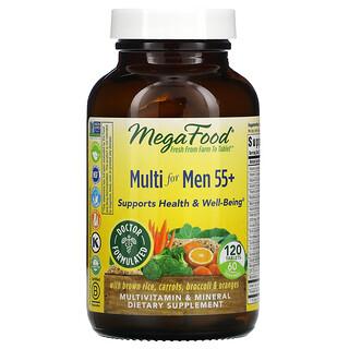 MegaFood, Suplemento multivitamínico para hombres mayores de 55años, 120comprimidos
