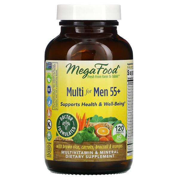 Multivitamines pour hommes de plus de 55ans, 120comprimés