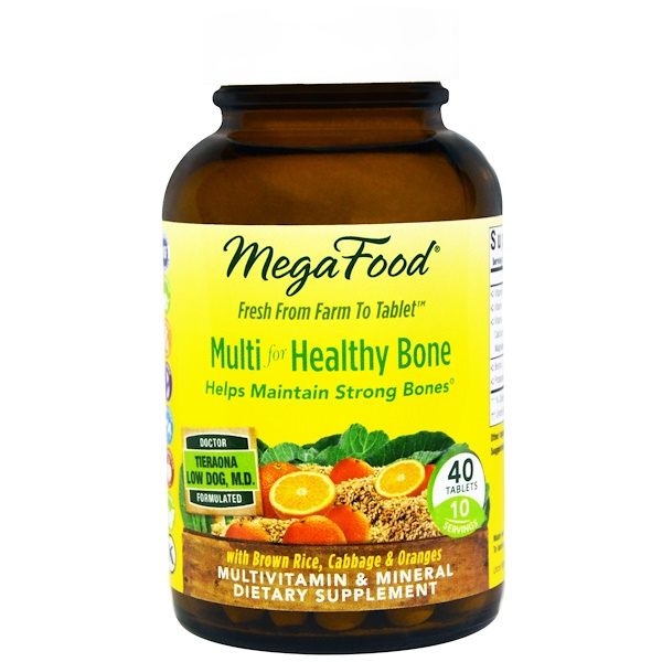 MegaFood, Multi For Healthy Bone, 40 Tablets (Discontinued Item)