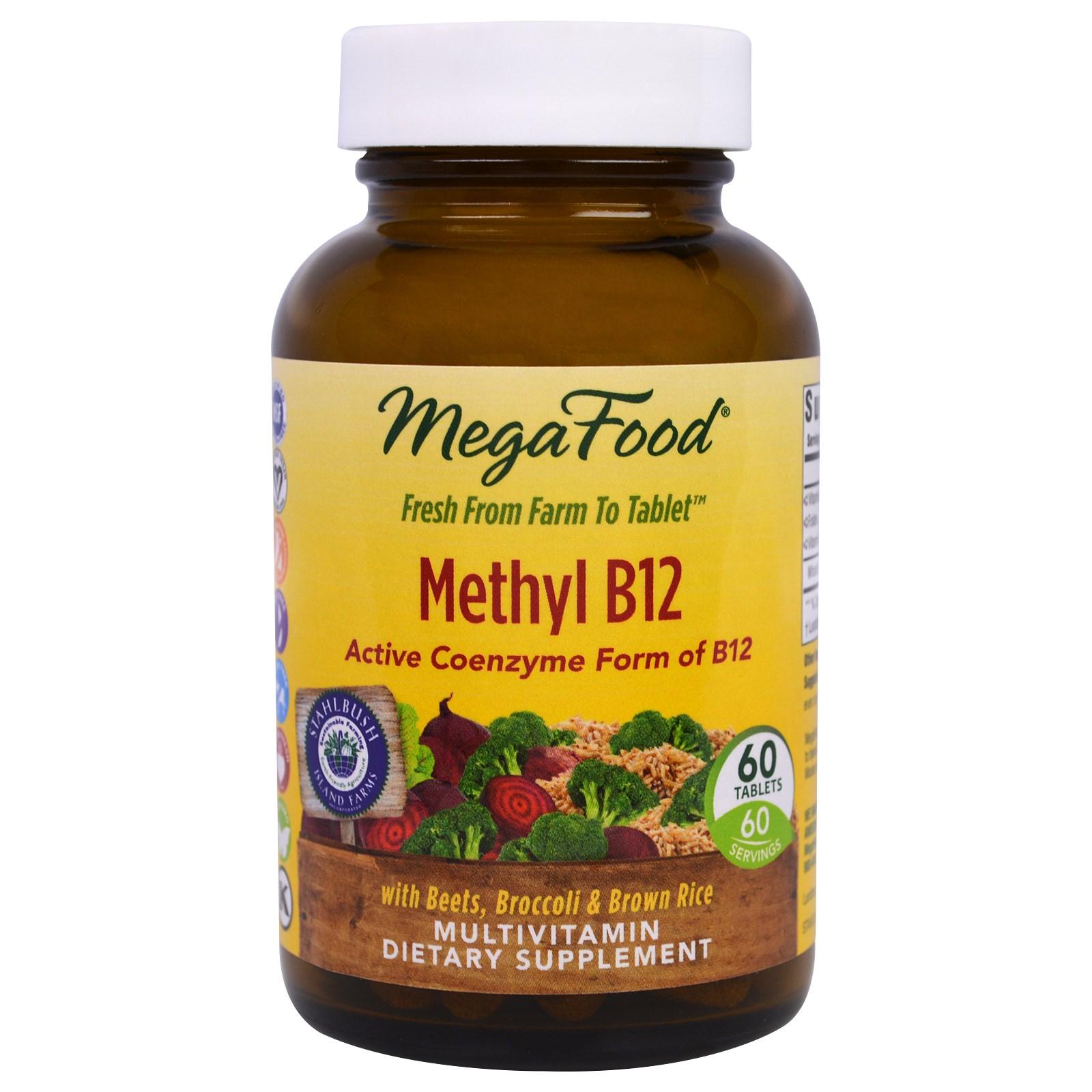 MegaFood, Метилкобаламин B12, 60 таблеток