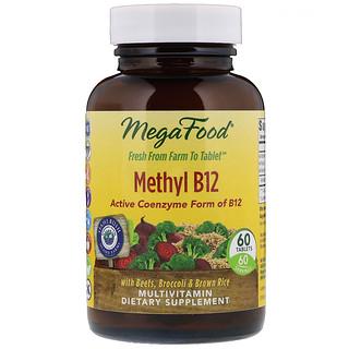 MegaFood, Methyl B12, 60 Tablets