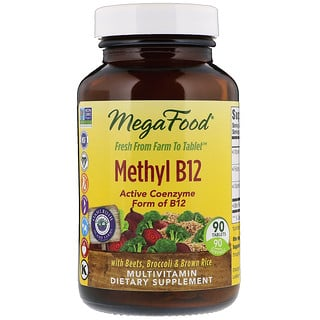 MegaFood, Methyl B12, 90 Tablets