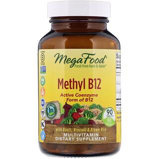 MegaFood, Methyl B12, 90 Tablets
