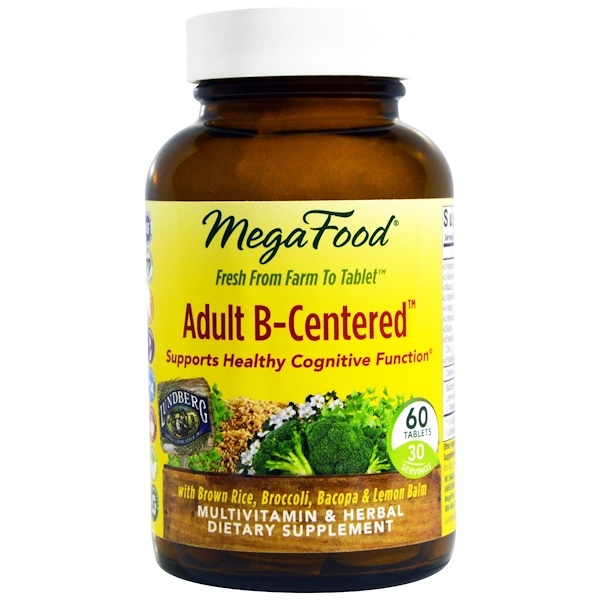 MegaFood, Adult B-Centered, 60 Tablets (Discontinued Item)